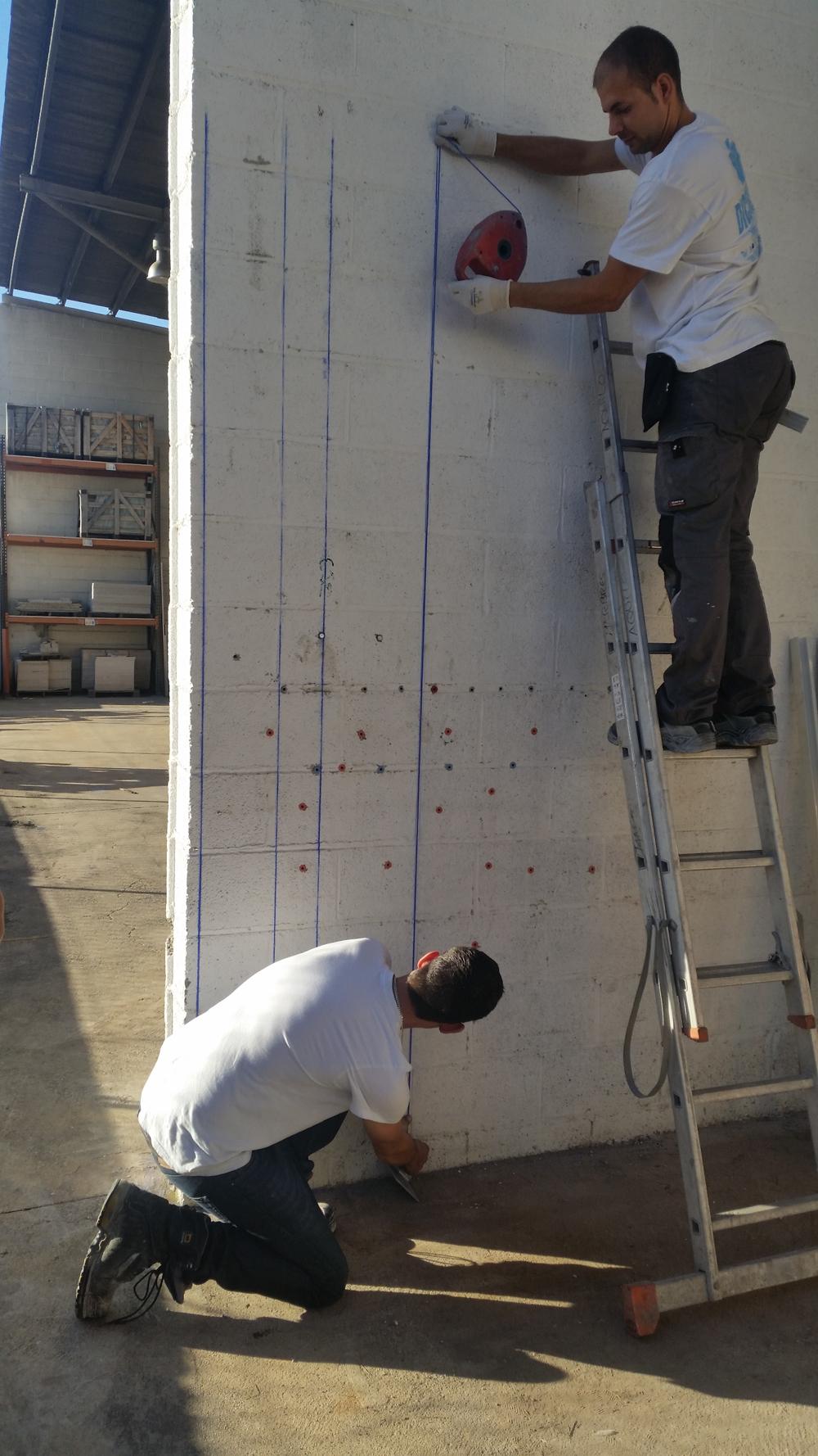 Montaje sistemas de fijación de fachadas