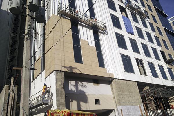 instalación fachadas ventiladas en santo domingo