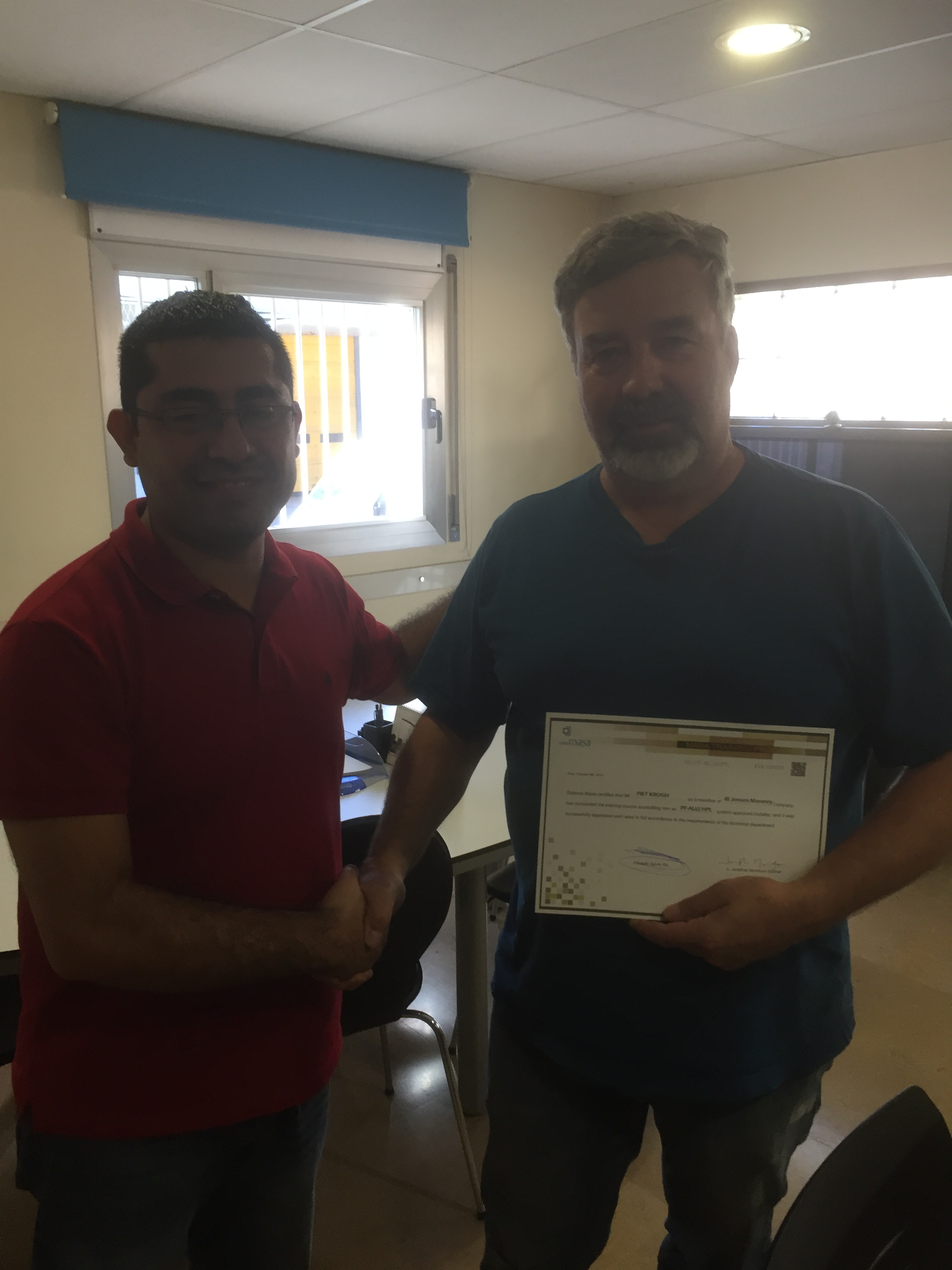 Certificado training Sistema Masa