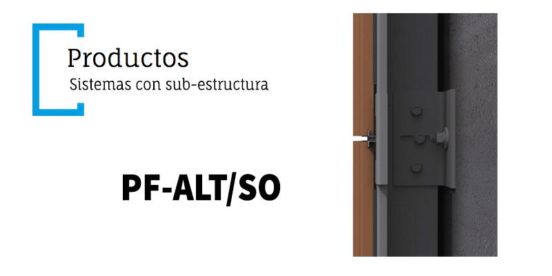 Sistema de sujeción de fachadas ventiladas