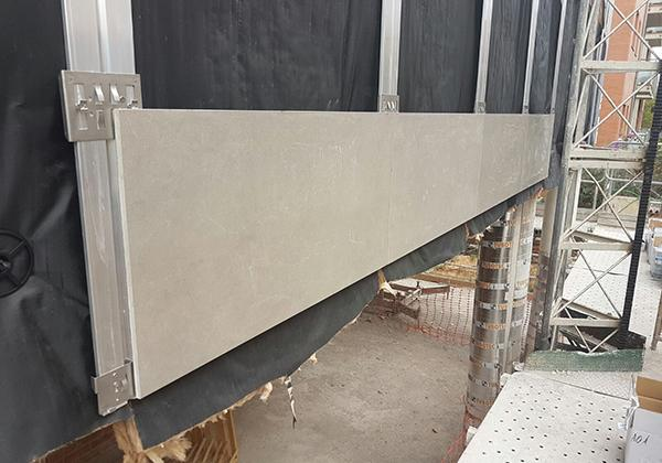 sujeción para edificio de viviendas con fachadas ventiladas