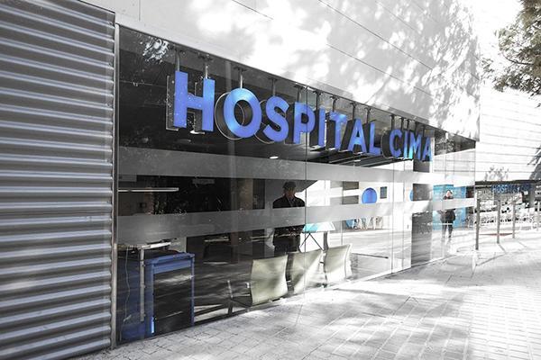 rehabilitación de las fachadas del hospital cima sanitas