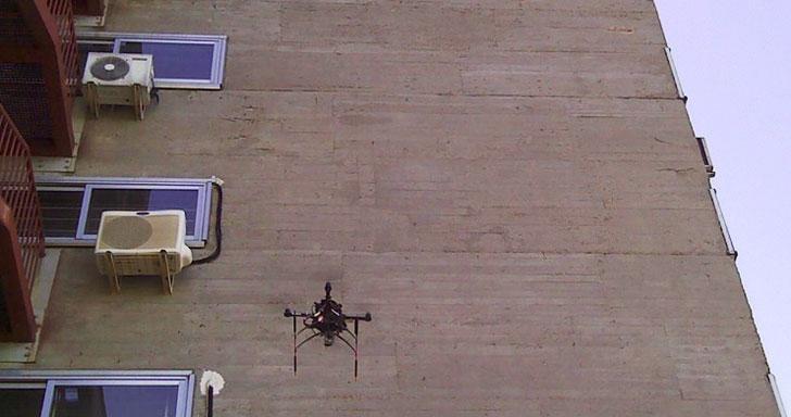 dron para revisar fachadas