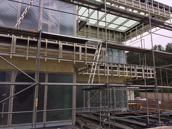 fachadas ventiladas con aislamiento térmico de gran espesor