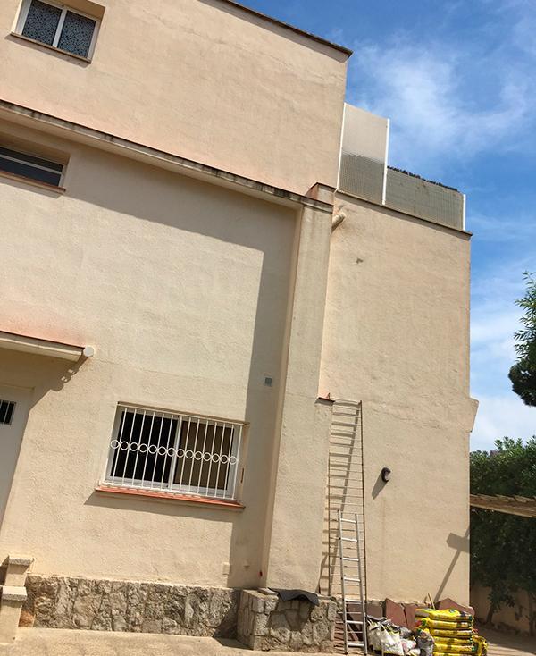rehabilitacion de fachada chalet