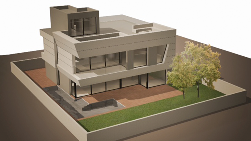 Proyecto Montgat fachada ventilada - Sistema Masa