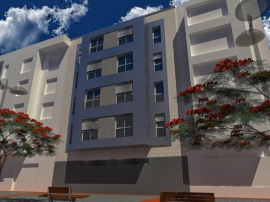 Residential 15 homes in Las Palmas with Ventilated Facade.