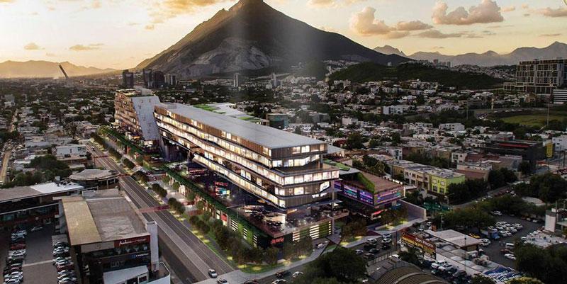 centro comercial con fachadas ventiladas punto valle