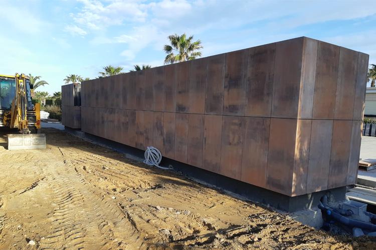 Proyecto con fachadas ventiladas