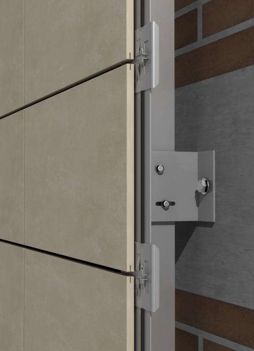 Sistema Basic Tile para fachadas ventiladas - Sistema Masa