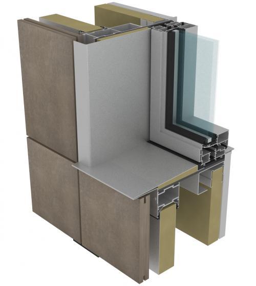 Muro cortina para fachadas ventiladas - Sistema Masa
