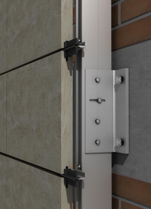 Solución para fachadas ventiladas Sistema Masa PF-ALU/PL EMPOTRADO