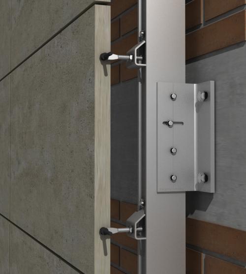 Solución para fachadas ventiladas Sistema Masa PF-ALU/CLA EMPOTRADO