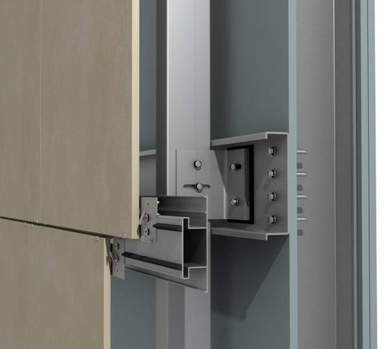 anclaje para fachadas ventiladas sistema masa PF-AL/TH canal