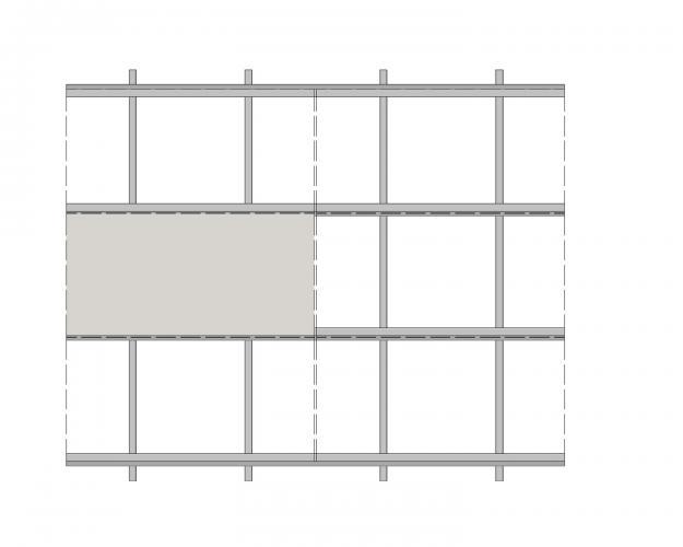 Solución para fachadas ventiladas Sistema Masa PF-ALU.HPL-ESQUEMA1