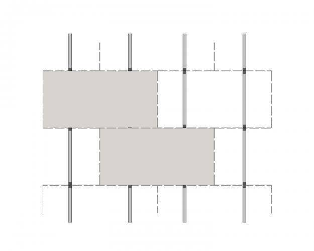 Solución para fachadas ventiladas Sistema Masa PF-AL-T.SO INTERMEDIO O EXTREMO