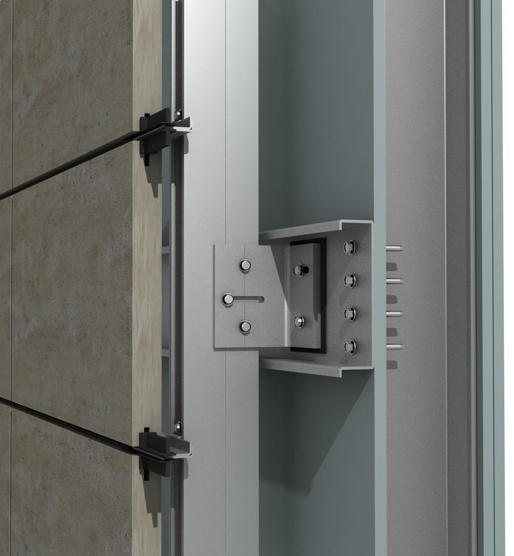 Solución para fachadas ventiladas Sistema Masa PF-ALU/PL CANAL/KNAUF