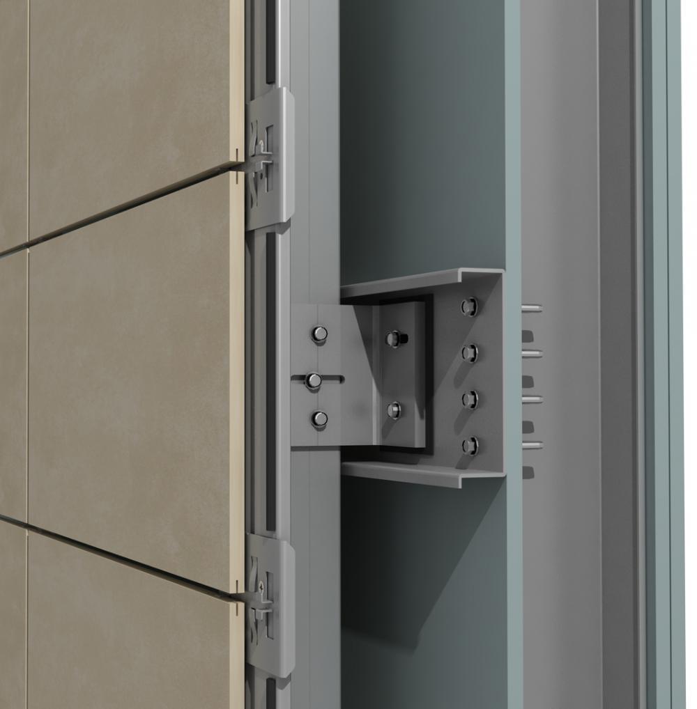 Solución para fachadas ventiladas Sistema Masa PF-ALT/SO CANAL