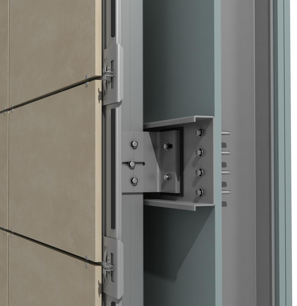 Solución para fachadas ventiladas Sistema Masa PF-AL-T.SV-CANAL