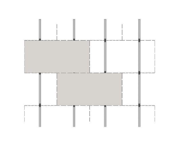 Solución para fachadas ventiladas Sistema Masa PF-AL-T.SV INTERMEDIO O EXTREMO