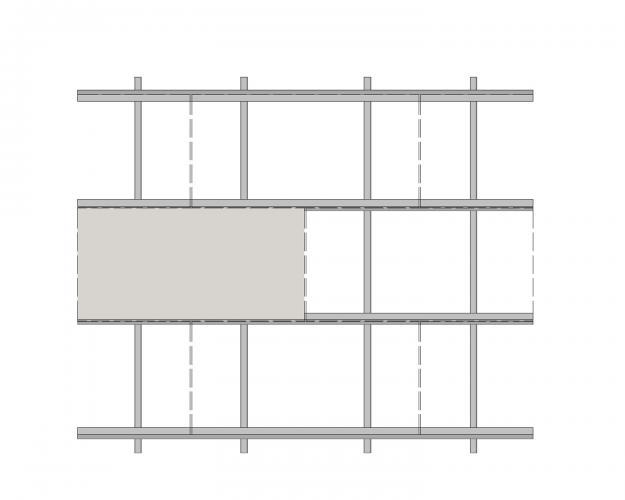 Solución para fachadas ventiladas Sistema Masa PF-ALU.HPL-ESQUEMA2