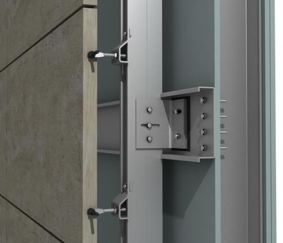 Solución para fachadas ventiladas Sistema Masa PF-ALU/CLA CANAL
