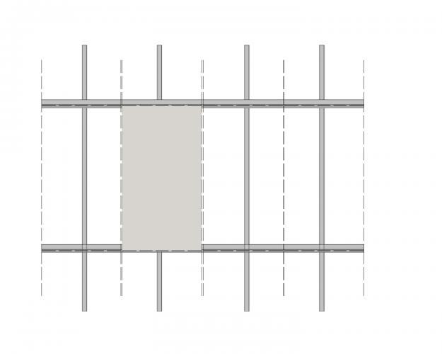 Solución para fachadas ventiladas Sistema Masa PF-ALU.HPL-ESQUEMA3