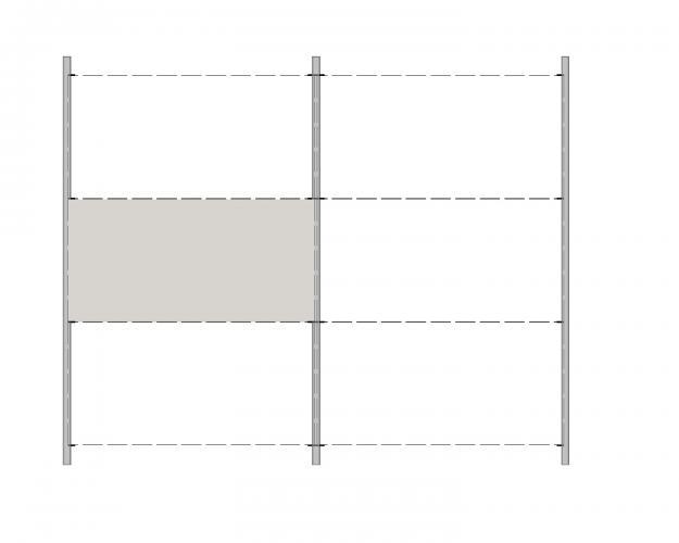 Solución para fachadas ventiladas Sistema Masa PF-ALU-GR-PL-100