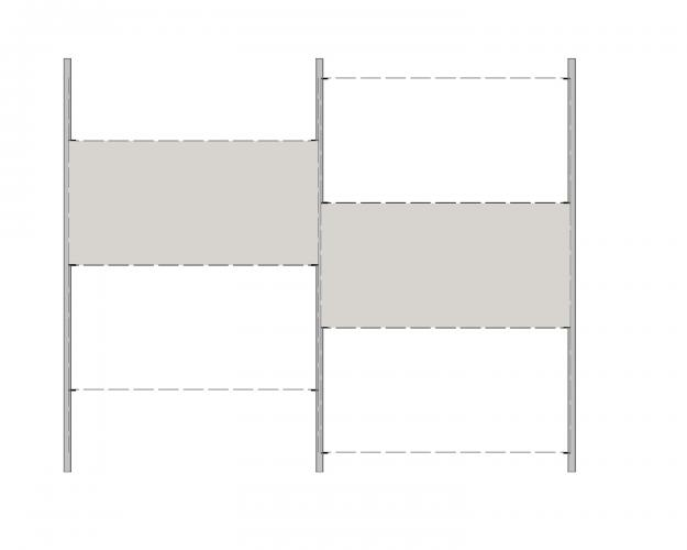 Solución para fachadas ventiladas Sistema Masa PF-ALU-GR-PL-146