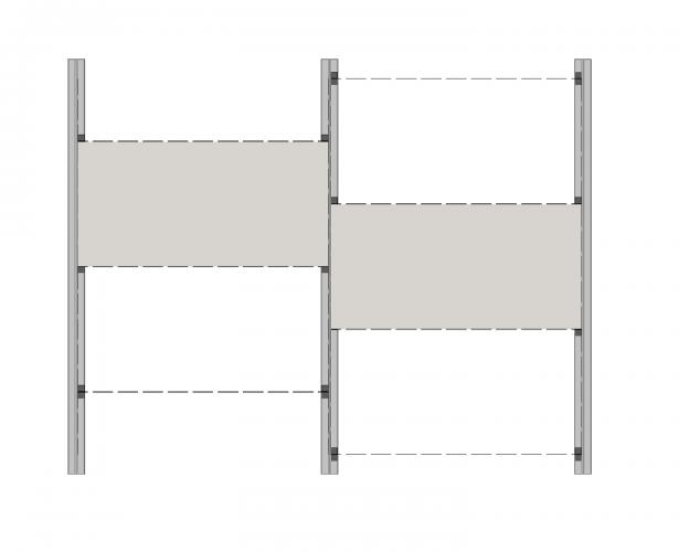 Solución para fachadas ventiladas Sistema Masa PF-AL-T.SV MATAJUNTA