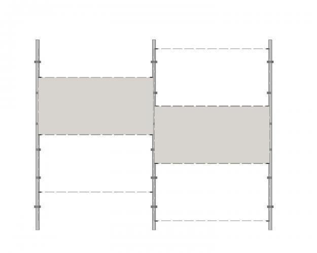 Solución para fachadas ventiladas Sistema Masa PF-ALU-CER-GRAPA.100MEDIA