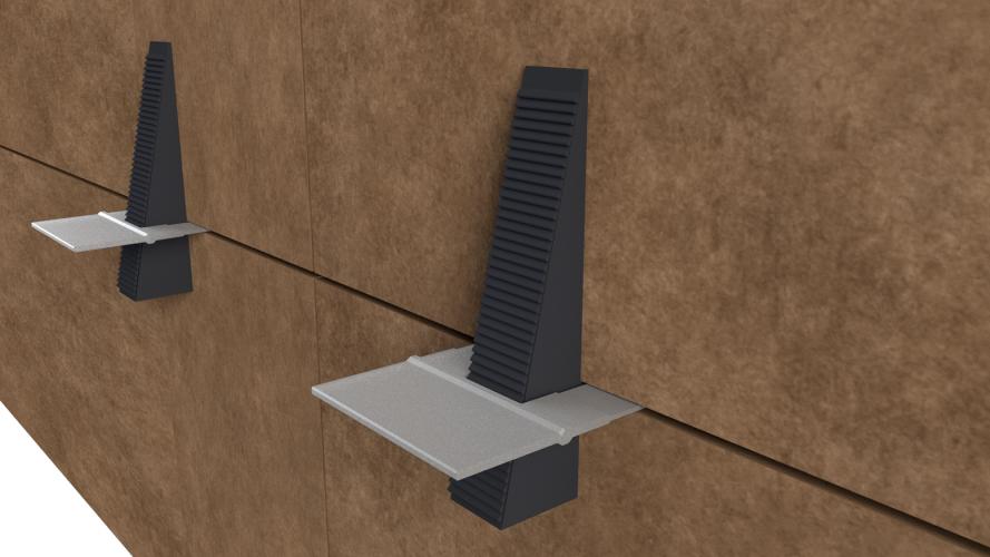 Sistema para fachadas ventiladas Sistema Masa Nivelador Basic Slim