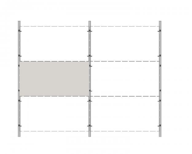 Solución para fachadas ventiladas Sistema Masa PF-ALU-CLA-HORIZONTAL