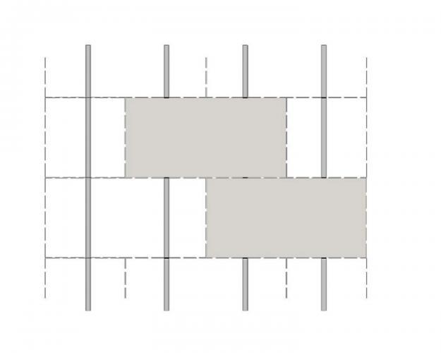 Solución para fachadas ventiladas Sistema Masa PF-ALU-GR-PL-100 MEDIA