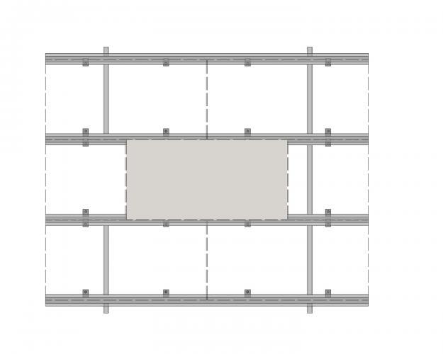 Solución para fachadas ventiladas Sistema Masa PF-ALU.HRT-ESQUEMA1