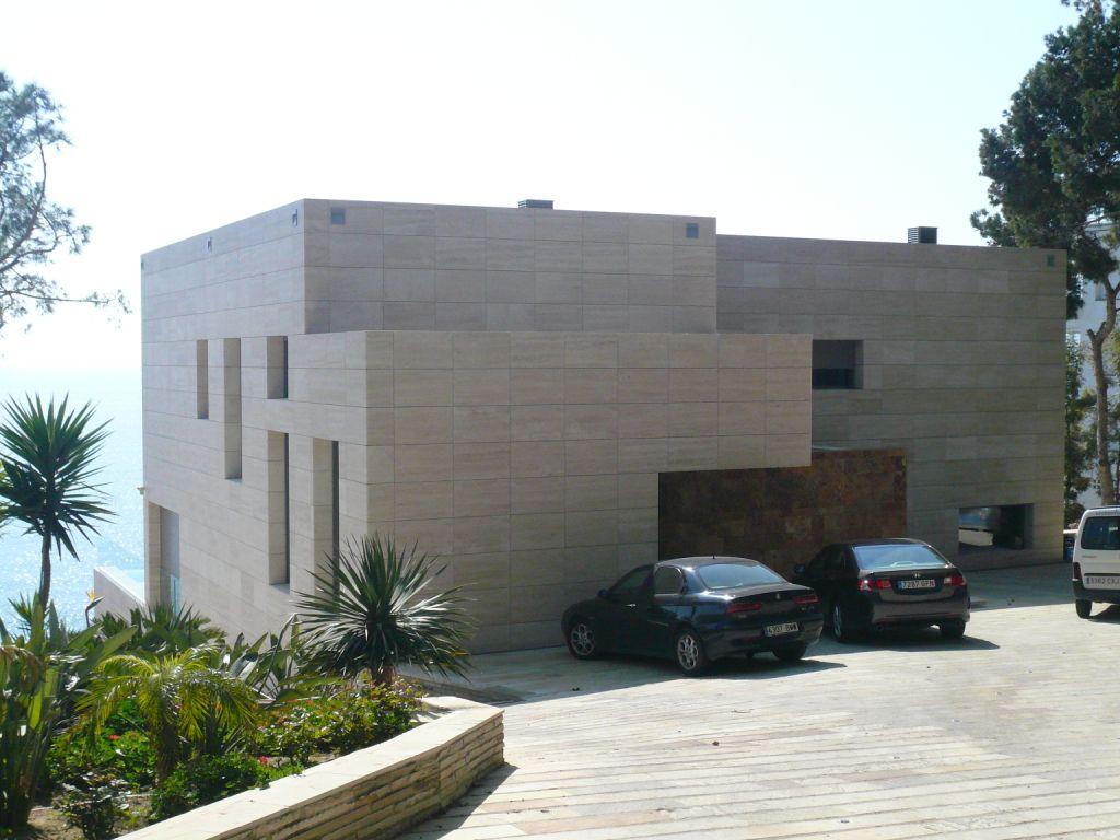 fachadas ventiladas - sistema masa - vivienda unifamiliar salou, tarragona