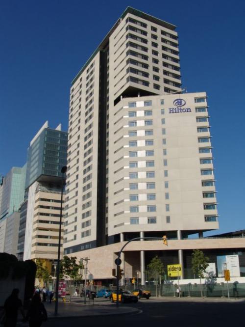 Fachadas del hotel Hilton Barcelona