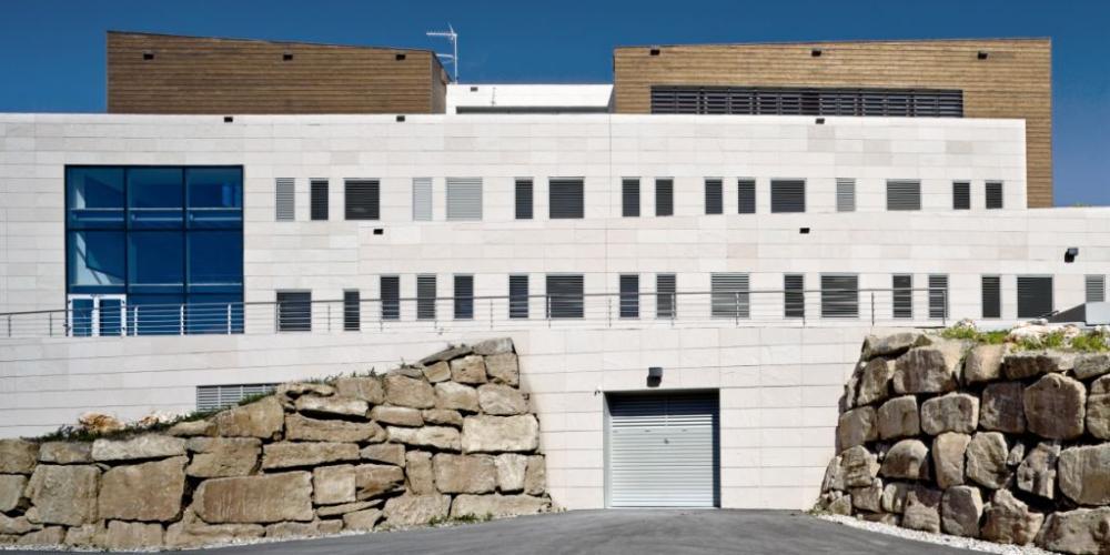 Fachadas ventiladas del Centro Forestal Solsona - Sistema Masa