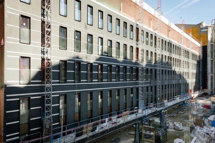 Hotel Seventy Barcelona sistema fachada ventilada · Sistema Masa