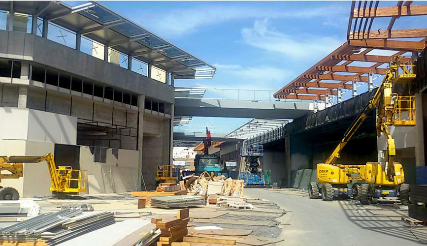 Centro comercial Alisios con fachada ventilada · Sistema Masa