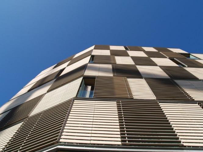 Fachada ventilada de Sistema Masa. B Hotel