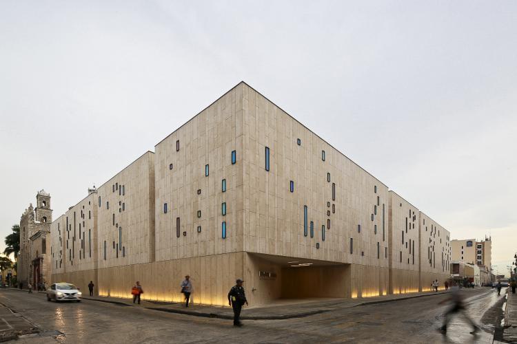 Palacio de la Musica de Merida con fachada ventilada - Sistema Masa