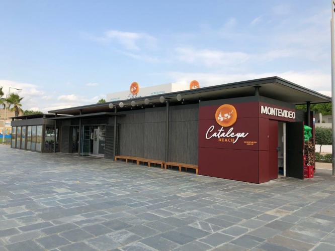 Restaurante Cataleya Beach con fachada ventilada de Sistema Masa