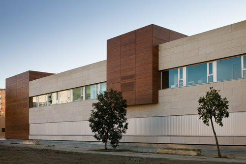 Centro de Valoración y Orientación revestimiento fachada - Sistema Masa