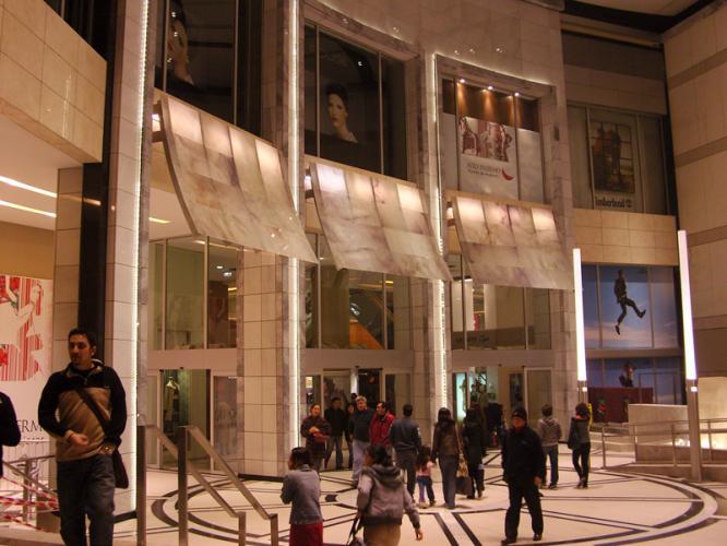 Centro Comercial Alto Palermo con fachadas ventiladas de Sistema Masa