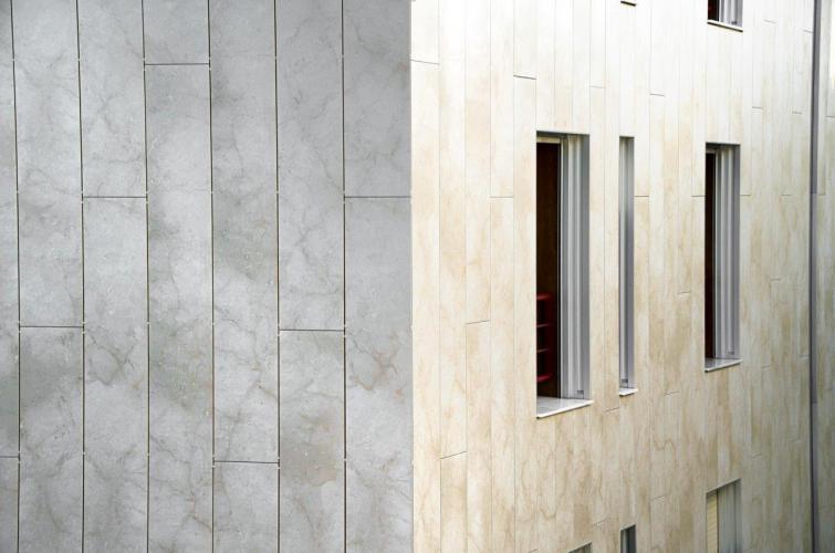 Rehabilitación fachada ventilada Salses de Sistema Masa