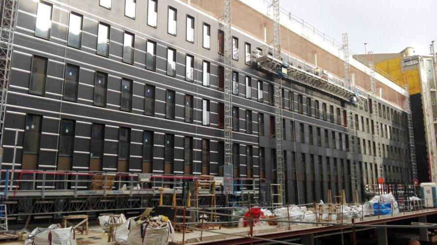 Hotel Corcega 344 con revestimiento de fachada - Sistema Masa