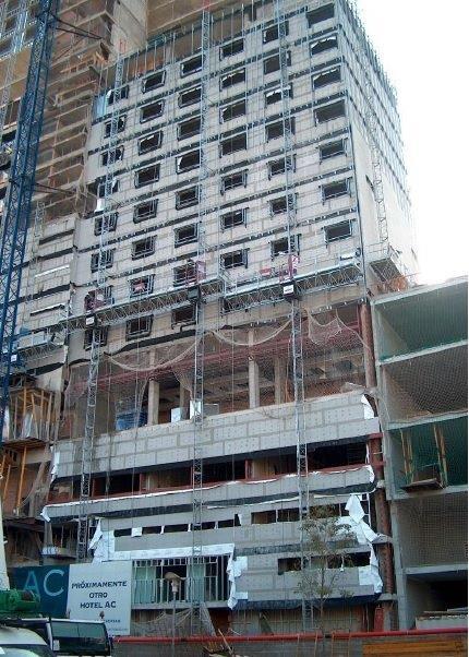 Sistemas de fachadas. Sistema Masa. Hotel AC forum