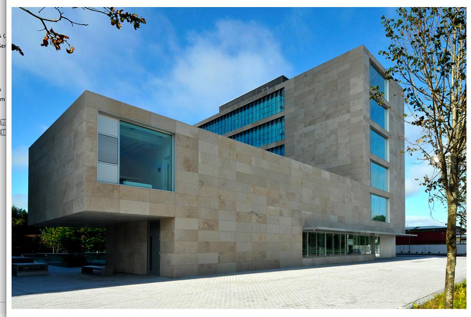Sistema Masa • Fachada ventilada de aplacado de piedra. Sistema Masa. Biblioteca del condado de Cork.