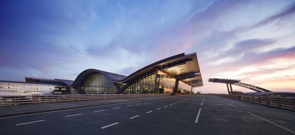 Aeropuerto Internacional NDIA con fachadas ventiladas - Sistema Masa